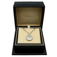 18Krt. Witgouden collier Chopard Happy spirit diamonds.