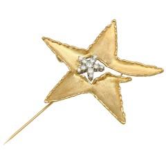 14 krt gouden Broche