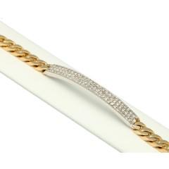 18Krt. Gourmet armband bezet met Diamant 0.81Ct.