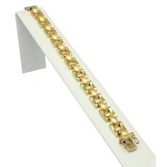 14 krt gouden Vintage schakel armband ca 1950