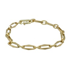 14 krt massief gouden Close for Ever armband