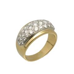 18 krt Gouden Briljant ring ca. 0.85 Ct