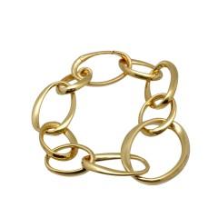18 krt gouden schakel armband,Italiaans design