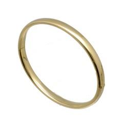 14 krt gouden Bangle van 6mm met scharnier