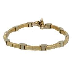 18 krt Bi- Color Gouden Armband met briljant van Baraka