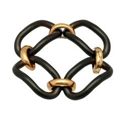Rosé gouden armband met Ebbenhout, Italiaans design