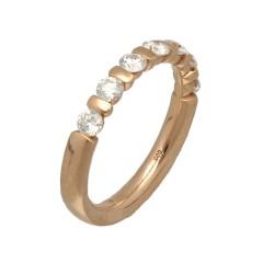 Rosé gouden Alliance ring met 7 Briljanten 0.87 Ct.