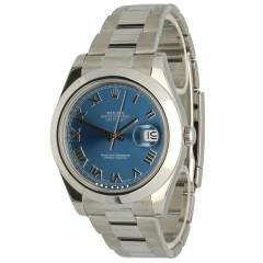 Rolex Datejust II Ref: 116300 Blue Index GERESERVEERD