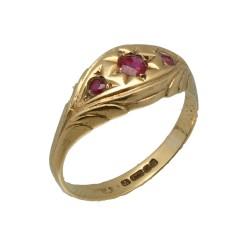Vintage gouden ring met Robijnen