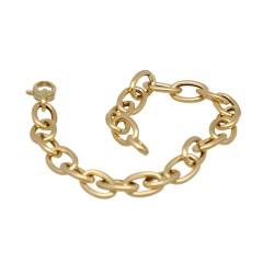 14 krt gouden schakel armband