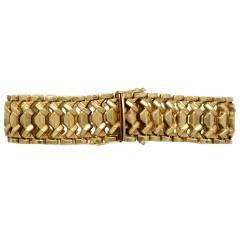 Vintage gouden schakel armband, 14 krt goud.