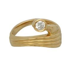 18 Krt. geelgouden Briljant ring 0.25 ct.
