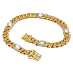 18 Krt. massief gouden armband met briljanten. ca. 1.25 ct.