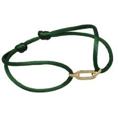 Trendy armband met 14 Krt gouden schakel, style cartier