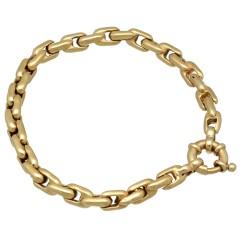 14 krt gouden palmier schakel armband.