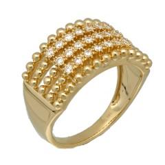14Krt. gouden ring gezet met Briljant 0.42Ct.