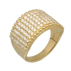 14Krt. gouden ring gezet met Briljant 1.56Ct