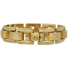 14 Krt. geelgouden armband, jaren ''50