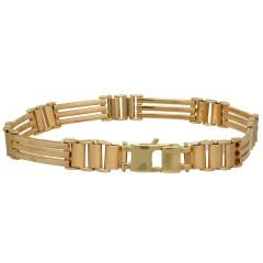 14 Krt gouden fantasie armband.