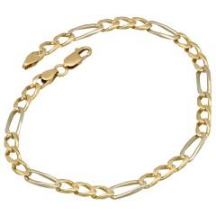 14 krt gouden Figaro armband.