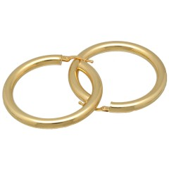 14 Krt Gouden Oorringen 30 mm
