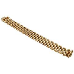 Vintage gouden schakel armband,14 krt goud.