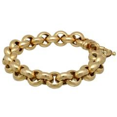 14 krt gouden Jasseron Armband 11,5 mm
