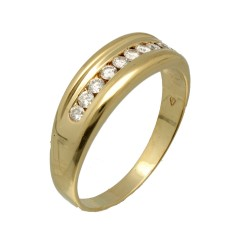 Geelgouden fantasie briljant ring 0.30 Ct