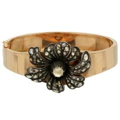 14 Krt Antiek gouden armband met Diamanten