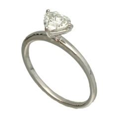18 krt solitair ring met hart geslepen diamant GIA gecertificeerd