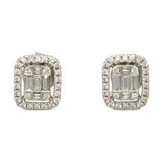 18 krt witgouden oorstekers met diamanten 0,50 ct.