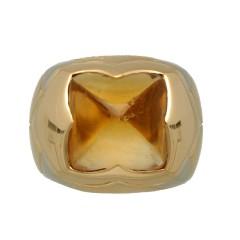 18 krt geelgouden ring van Bulgari Pyramide collectie
