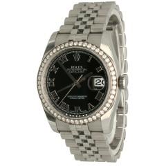 """Rolex Datejust 36 Ref.116244 Diamond Bezel/Jubilee """"Full Set"""""""