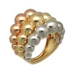 14 krt modieuze 3 colour ring.