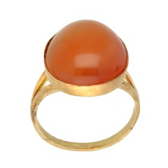 14 krt gouden ring met Carneool